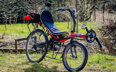Tricycle électrique dans les Vosges