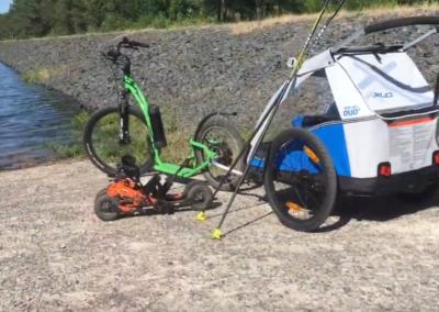 Wheel'e et Skat'in Vosges au lac de Pierre Percée