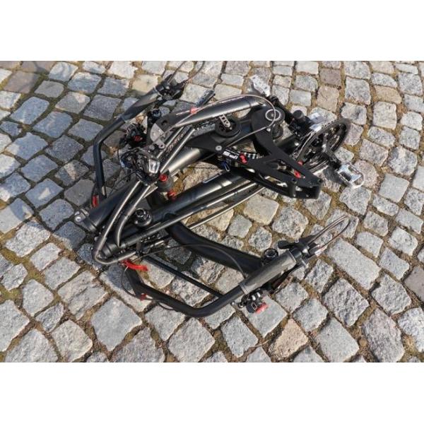 Vélo électrique pliant dans les Vosges